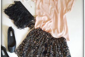 visionas Fashion Darling im Mai Rosa Kurzarmbluse von H&M