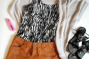 visionas Fashion Darling im Juni Animal Print Top von Vero Moda