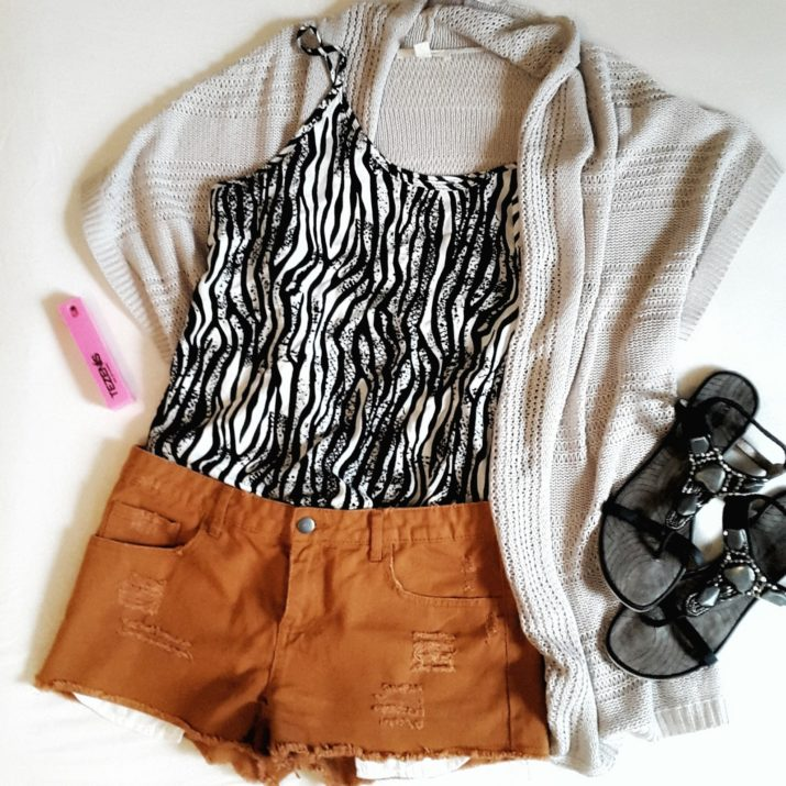vero moda animal print top outfit