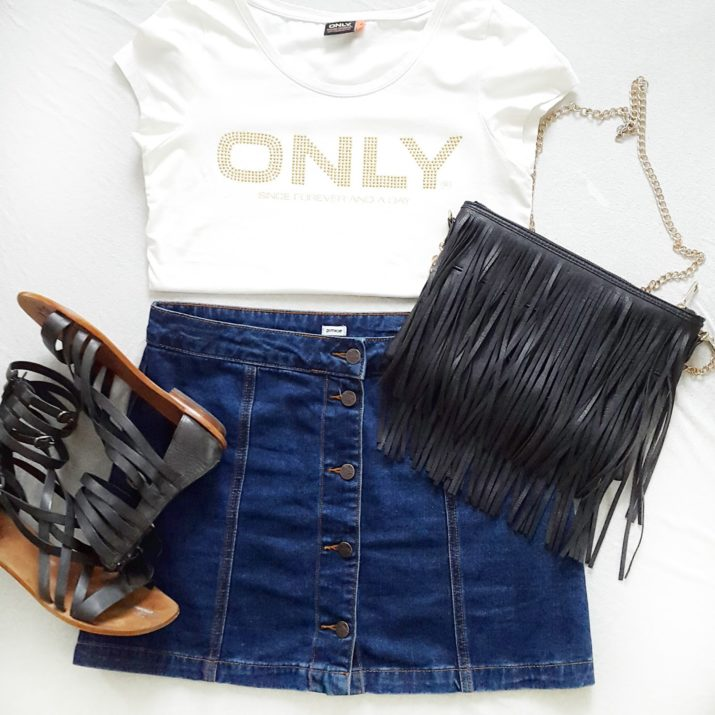 jeansrock outfit