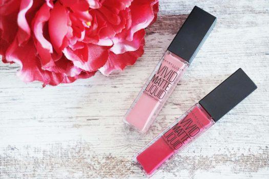 Lipstick Parade Maybelline Vivid Matte Liquid in 05 Nude Flush & 40 Berry Boost