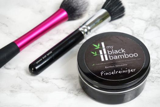 Saubere Pinsel mit Aktivkohle – my black bamboo Pinselreiniger