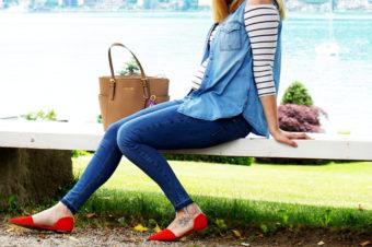 Schwangerschaftsoutfit mit Streifen – Bump Style beim Kärntner Blogger Sonntagsbrunch