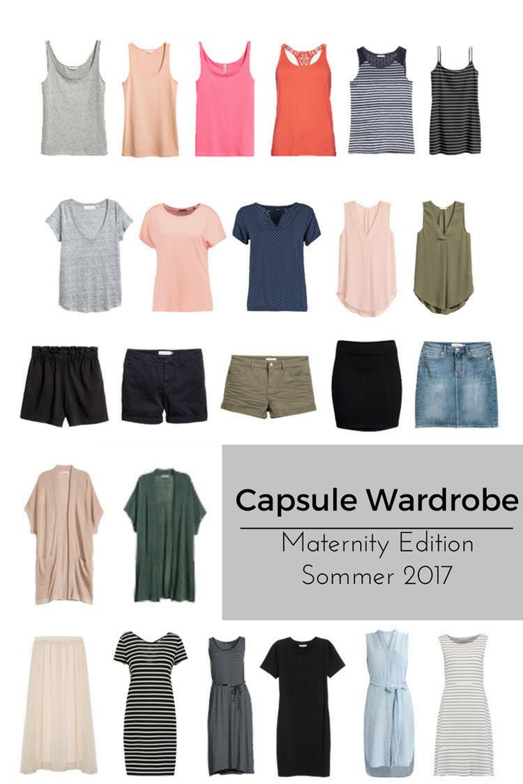 Capsule Wardrobe Sommer 2017 Maternity Schwangerschaft Edition