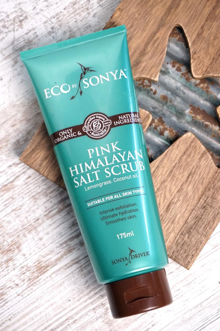 Review Naturkosmetik Eco by Sonya Pink Himalayan Salt Scrub Bodyscrub Körperpeeling Organic Beauty