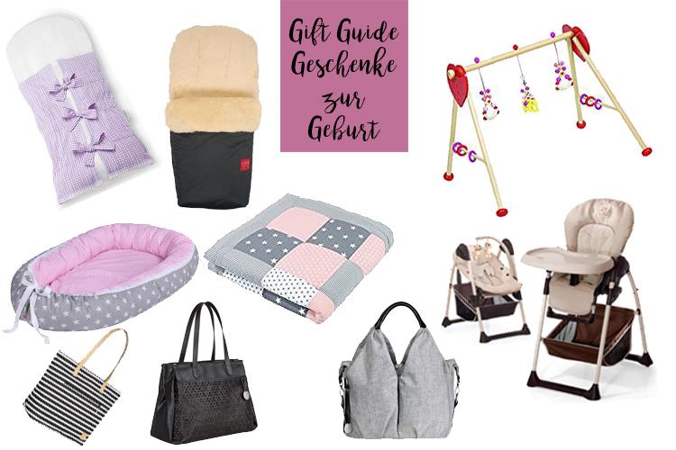 Geschenke zur Geburt Gift Guide Baby Shower Party