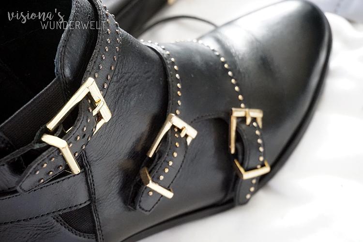 Herbst 2017 Fashion Trend Nieten und Schnallen Stiefletten von Bronx