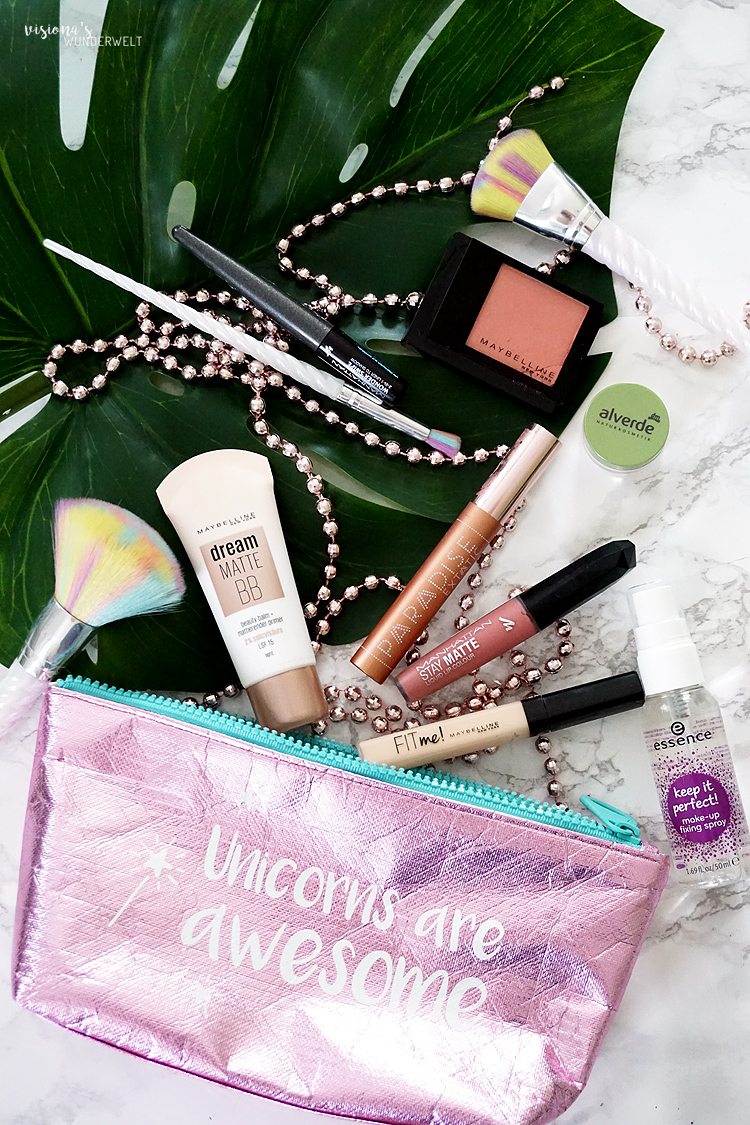 jga makeup bag einhorn sommer look