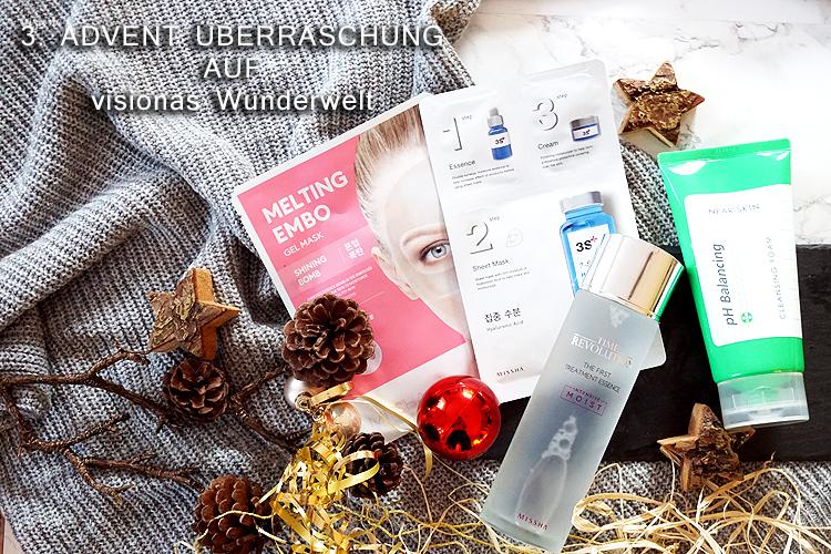 K-Beauty Marke Missha Advent Überraschung Blogadventkalender