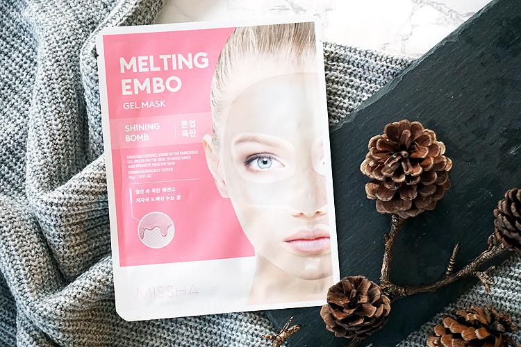 K-Beauty Marke Missha Melting Embo Gel Maske Shining Bomb