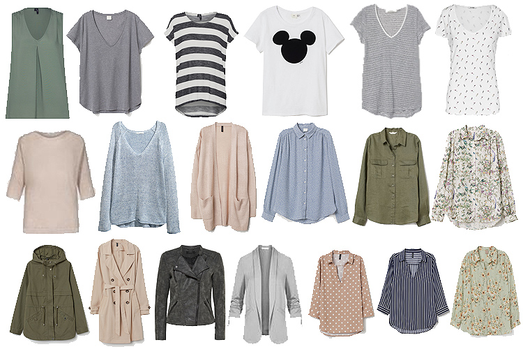 Fruehling Capsule Wardrobe 2019 Oberteile Layers