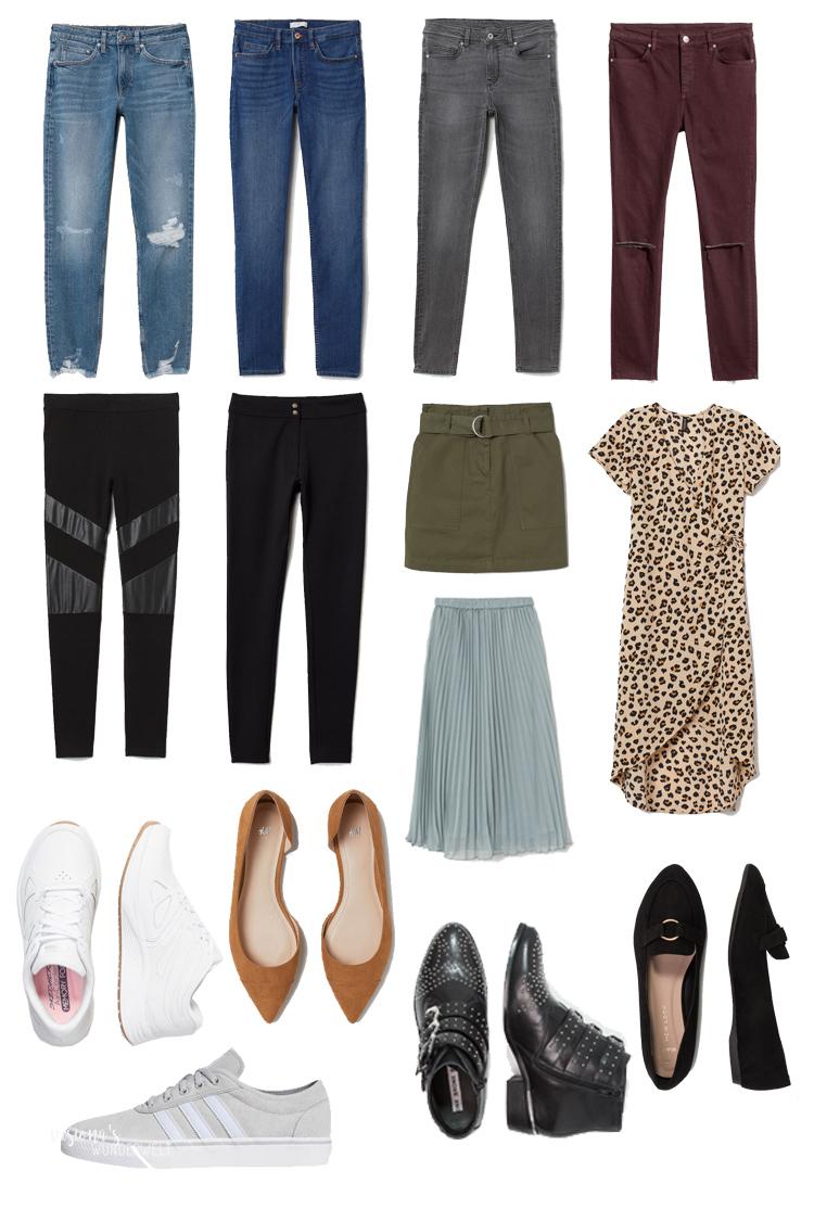 Fruehling Capsule Wardrobe 2019 Unterteile Kleider Schuhe
