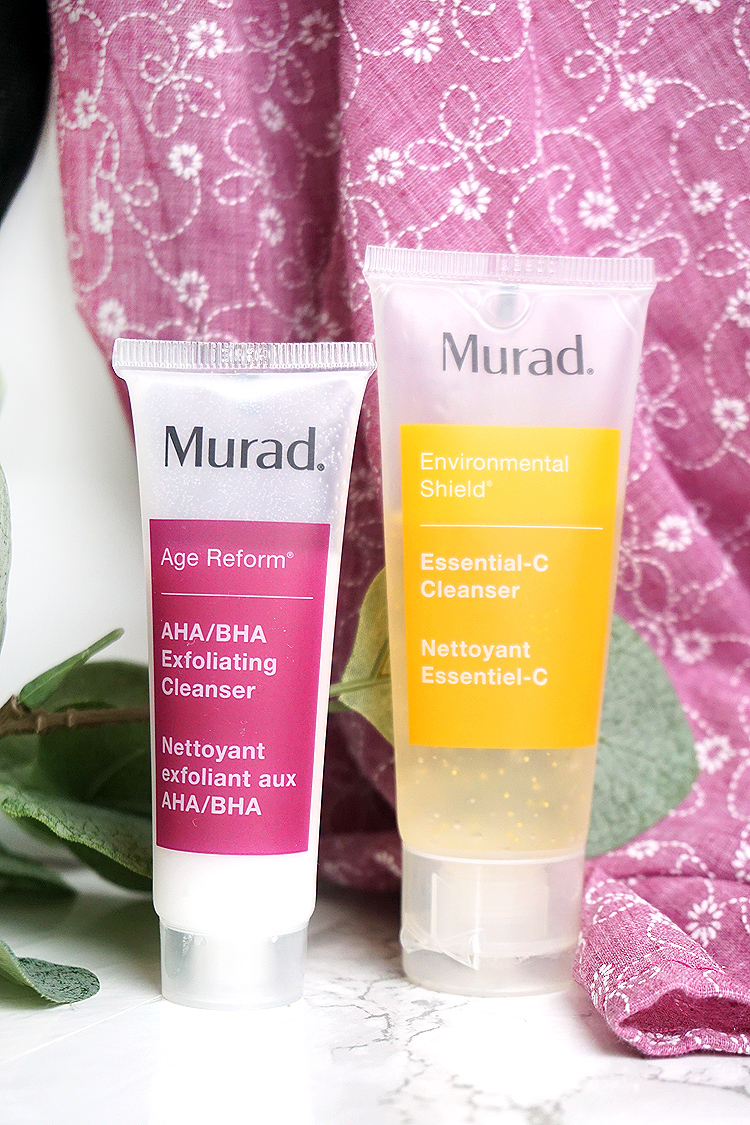 Erste Erfahrungen mit Murad Cosmetics Age Reform AHA BHA Exfoliating Cleanser und Environmental Shield Essential-C Cleanser