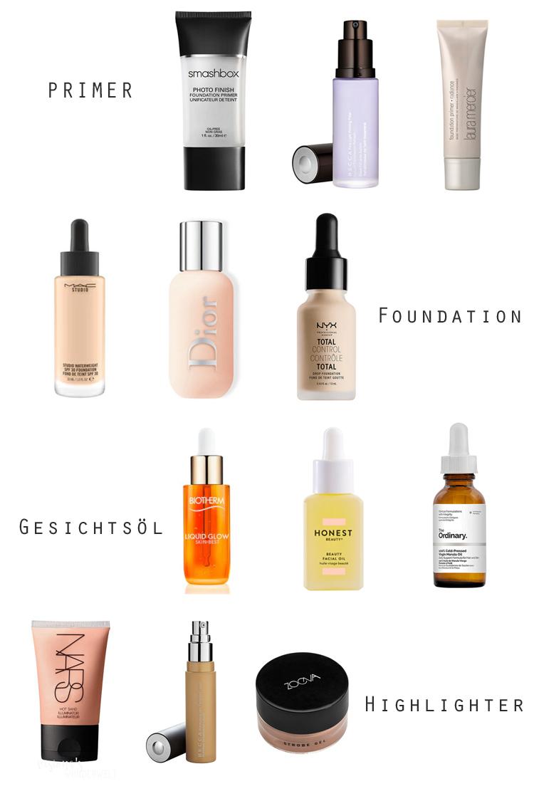 Yoga Skin Zutaten Primer Foundation Gesichtsöl Highlighter für sommerlichen Beach Glow Look