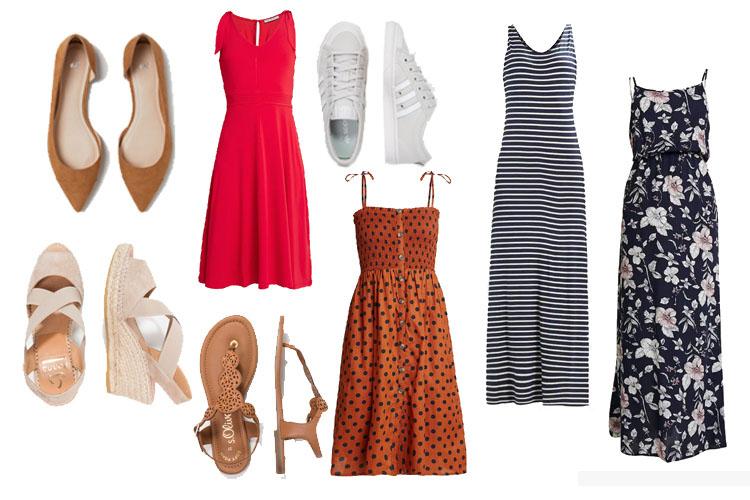 Sommer Office Capsule Wardrobe 2019 Kleider und Schuhe