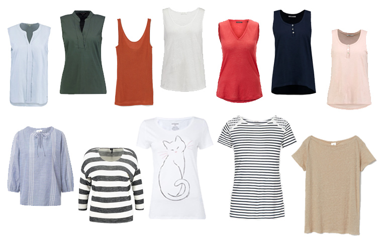 Sommer Office Capsule Wardrobe 2019 Oberteile