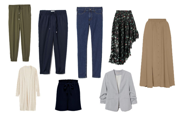 Sommer Office Capsule Wardrobe 2019 Unterteile und Layer