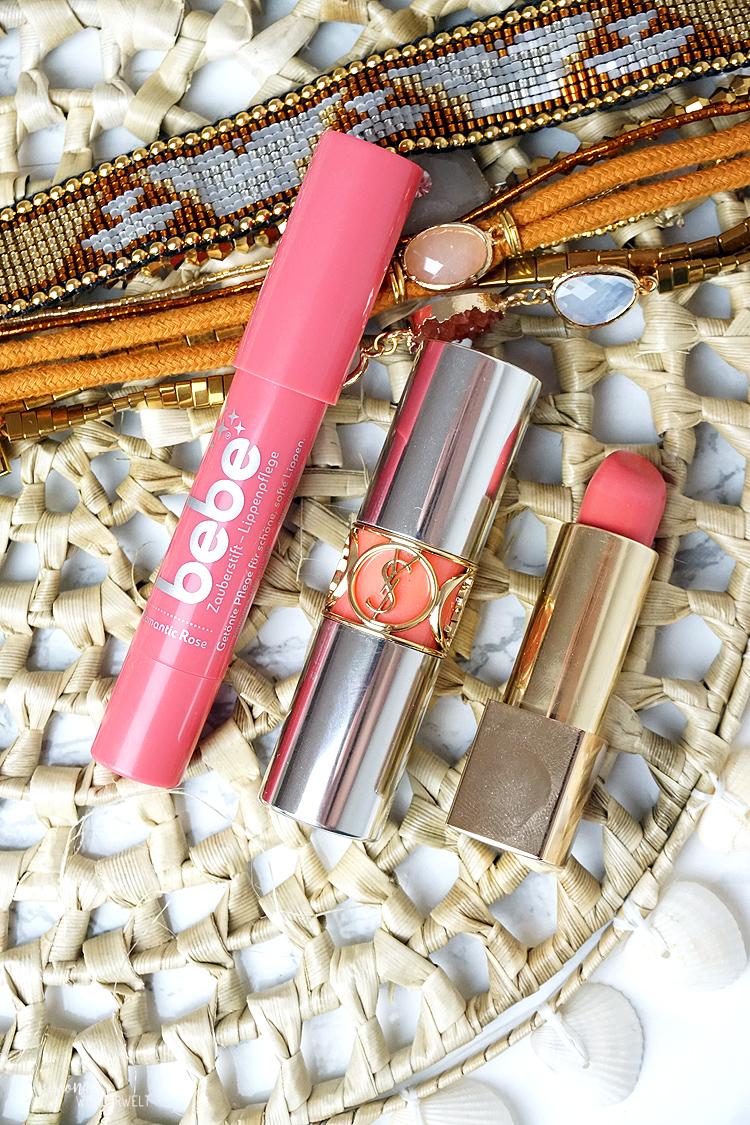 Lippenprodukte für den Sommer in pink und coral Tönen