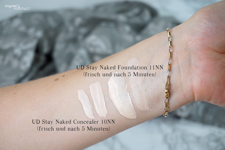 Urban Decay Stay Naked Foudnation 11NN und Concealer 10NN Swatches