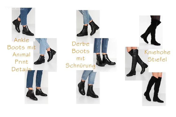 Accesoires Trends in meiner Herbst Capsule Wardrobe 2019 Schuhe Animal Print Boots Overknees