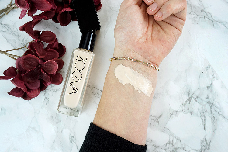 Zoeva Authentik Skin Foundation 010N AGlow Swatch