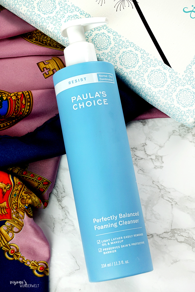 skincaresunday gesichtspflege routine mit paulas choice perfectly balanced foaming cleanser