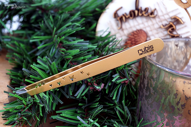 Rubis Switzerland Tweezers Classic Gold Stars
