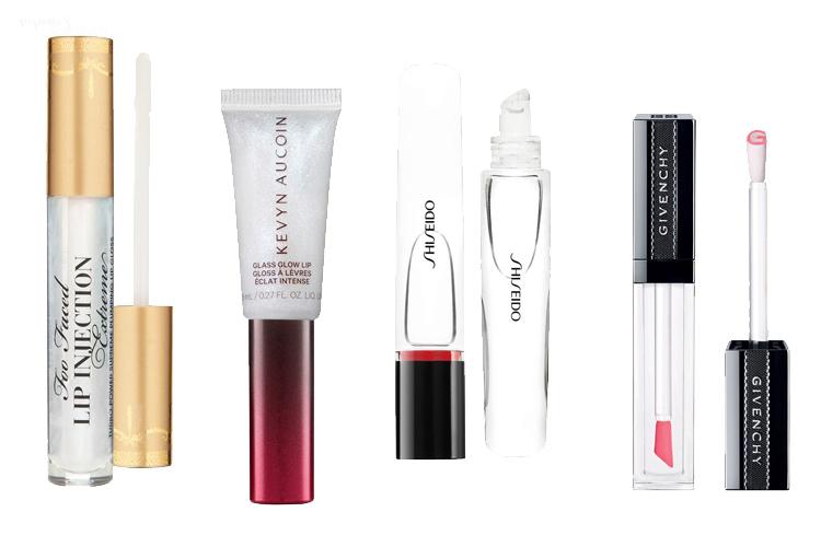 Makeup Trends 2020 farblosse Lipglosse