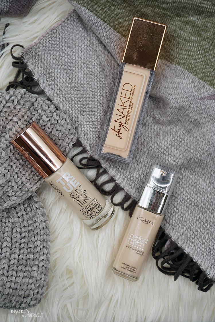 Winter Makeup Tipp flüssige und cremige Foundations ohne mattes Finish