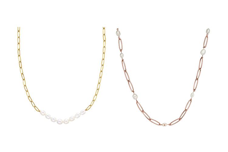Perlenschmuck mit groben Ketten Details